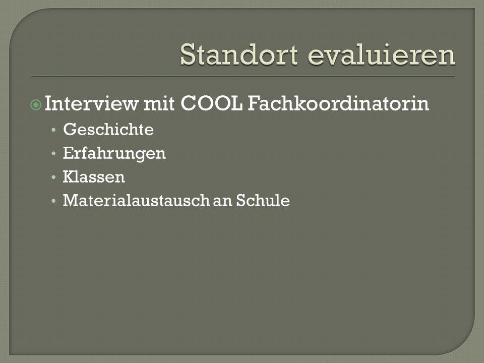  Interview mit COOL Fachkoordinatorin Geschichte Erfahrungen Klassen Materialaustausch an Schule