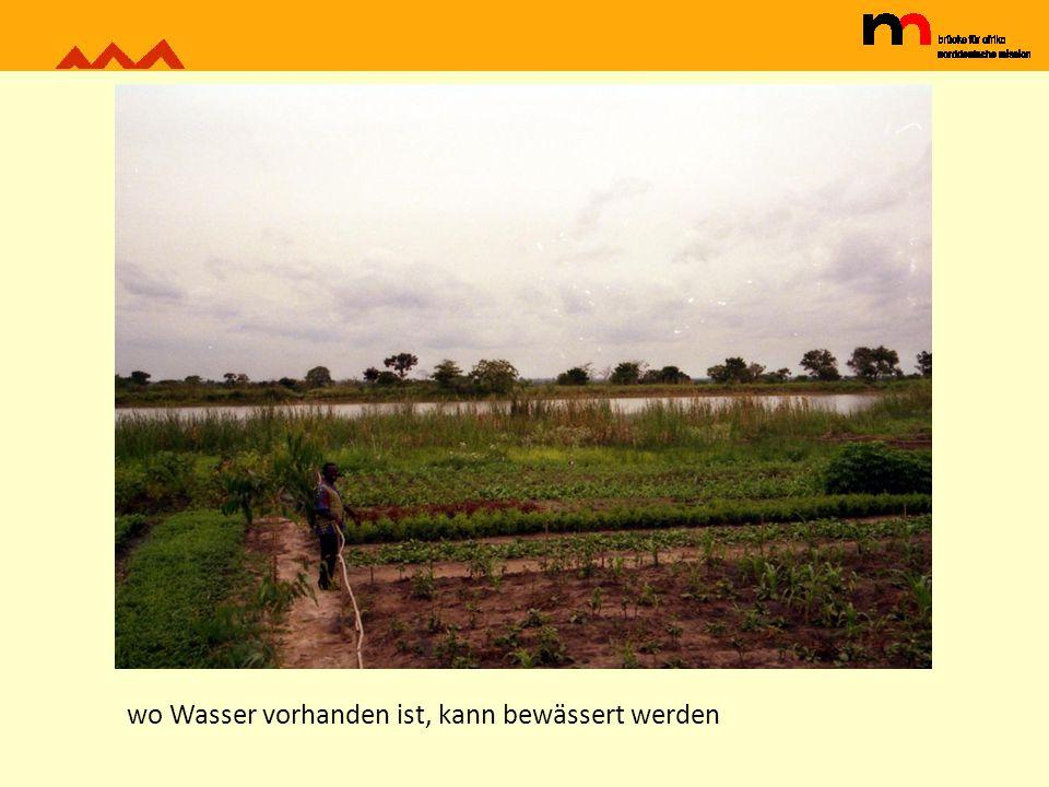 wo Wasser vorhanden ist, kann bewässert werden