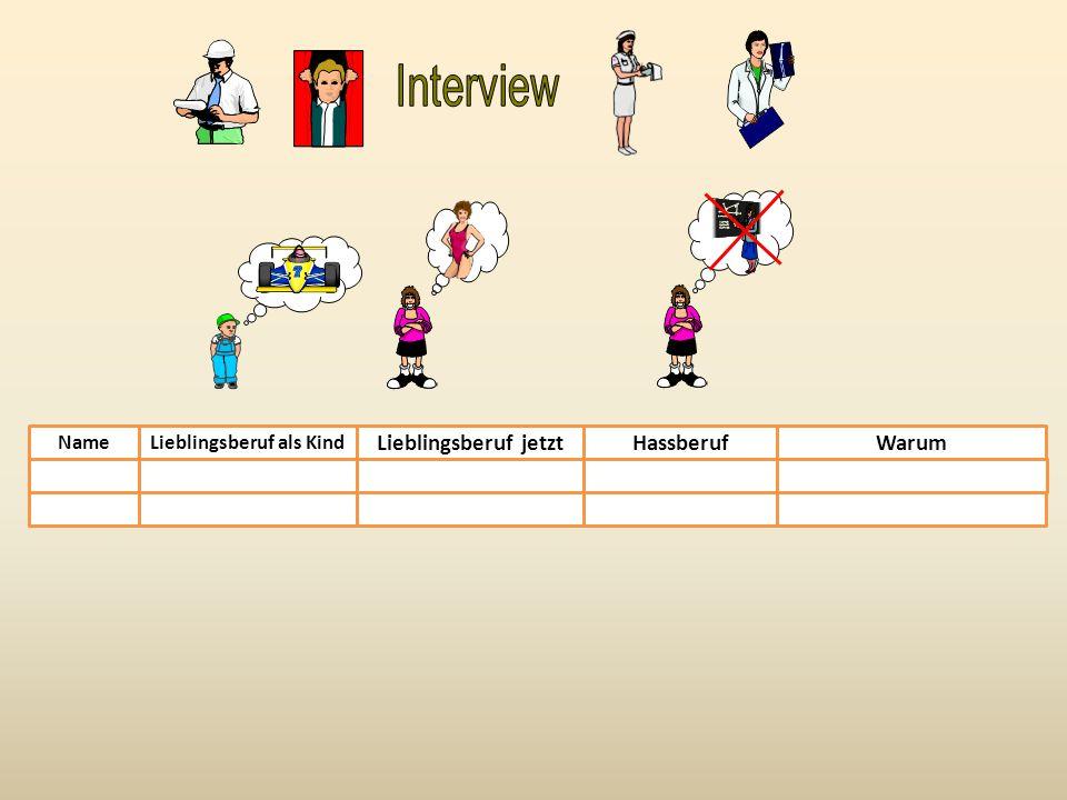 Was ist dein Beruf.Frage deinen Partner: z. B. Arbeitest du an der Schule.