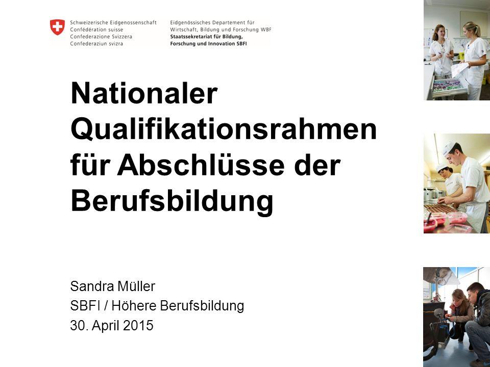 Der Europäische Qualifikationsrahmen (EQR) 2 Abschluss CH Arbeitgeber Ausland Arbeitgeber Schweiz Abschluss Ausland Ausländischer NQR