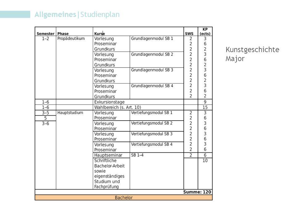 Allgemeines Studienplan Kunstgeschichte Minor