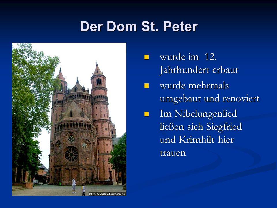 Der Dom St. Peter wurde im 12.