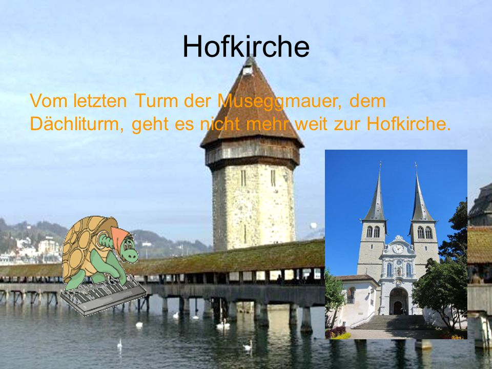 Museggmauer Die Altstadt wird von der Museggmauer eingezäunt. Heute stehen noch 9 Türme: Nölliturm, Männliturm, Lueg is Land, Wachturm, Zytturm, Schir