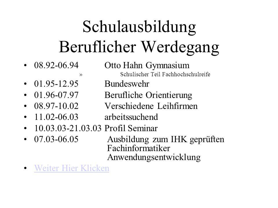 Lebenslauf NameMike Flieger Geburtstag26.07.1974 GeburtsortWanne - Eickel Wohnort47057 Duisburg Strasse Tulpenstrasse 5 Telefon Handy 01 73 / 48 43 21