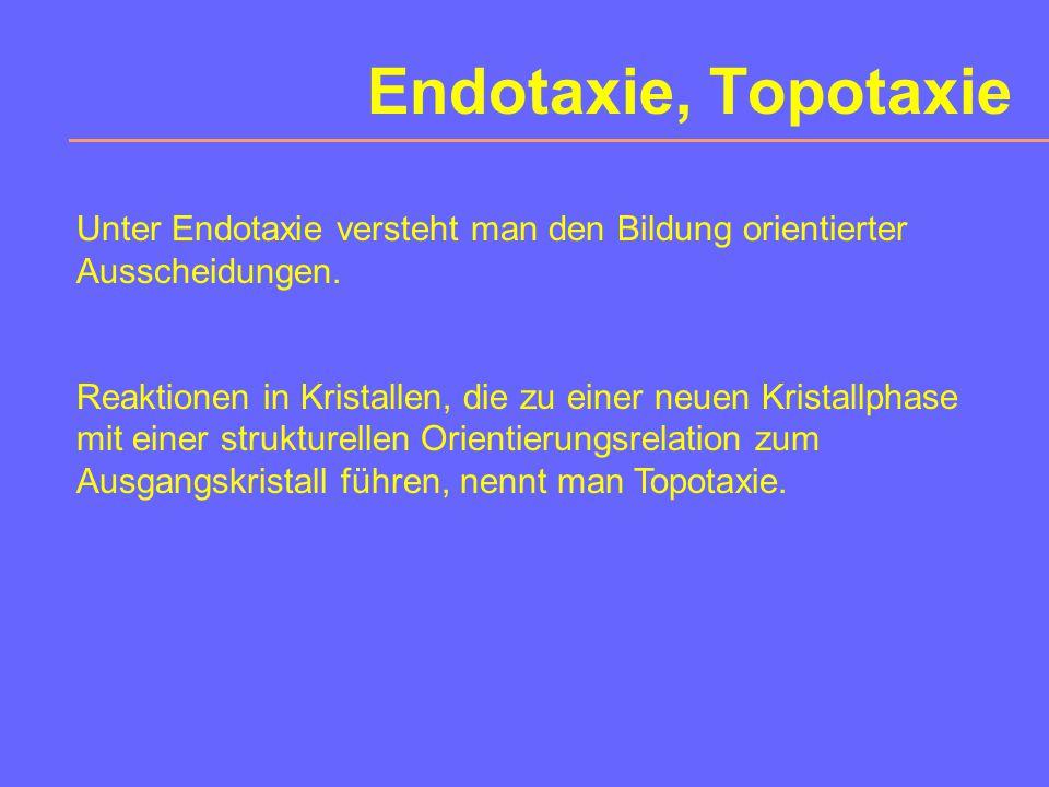 Epitaxie Epitaxie ist das gesetzmäßig orientierte Aufwachsen einer Substanz auf einer anderen.