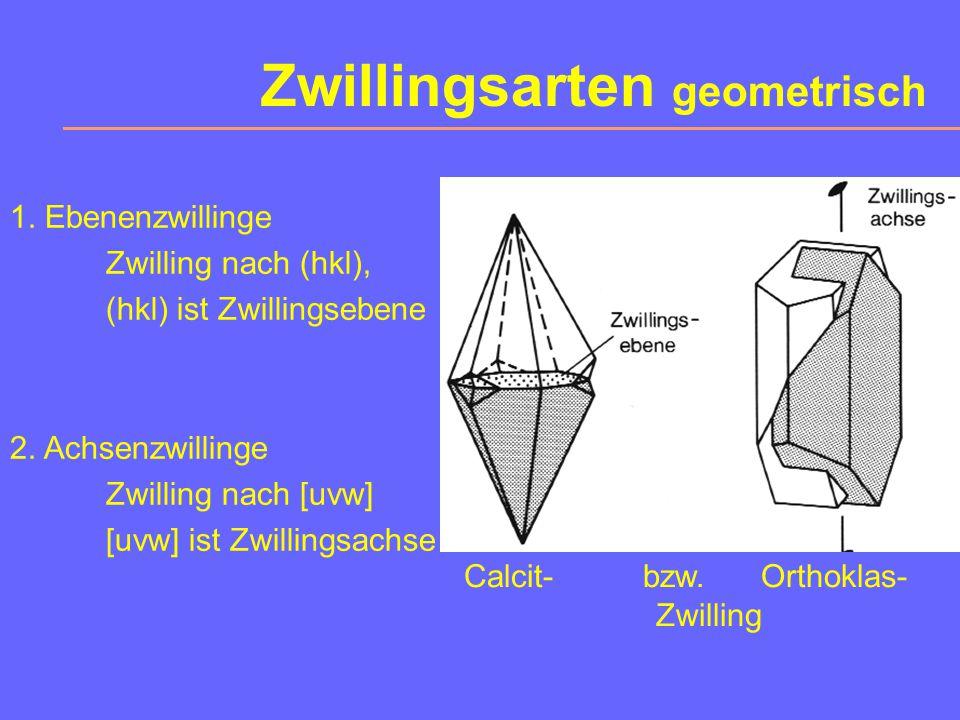 Zwillinge Ein Zwilling ist eine gesetzmäßige Verwachsung von Kristallbereichen gleicher Art.
