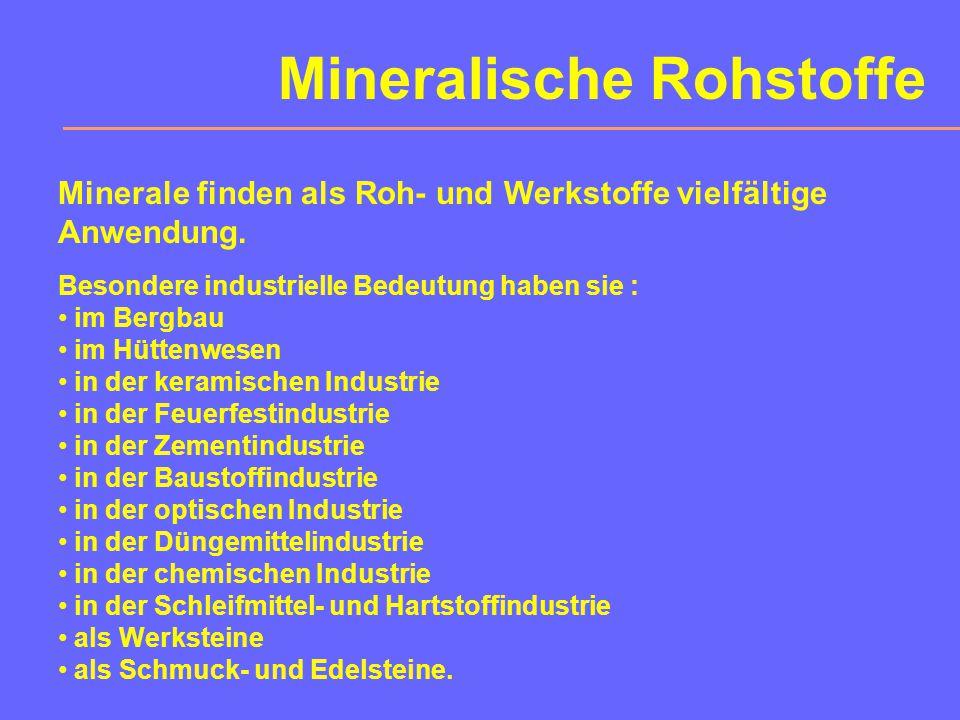 Geochemie Die 8 häufigsten chemischen Elemente der Erdkruste: (nach B.