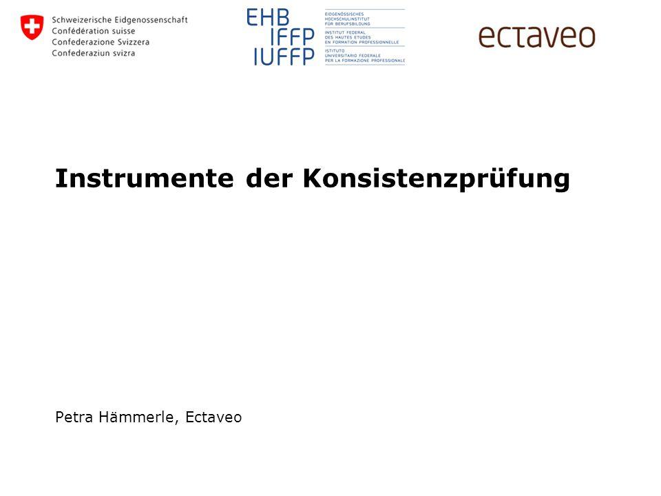 Petra Hämmerle, Ectaveo Instrumente der Konsistenzprüfung