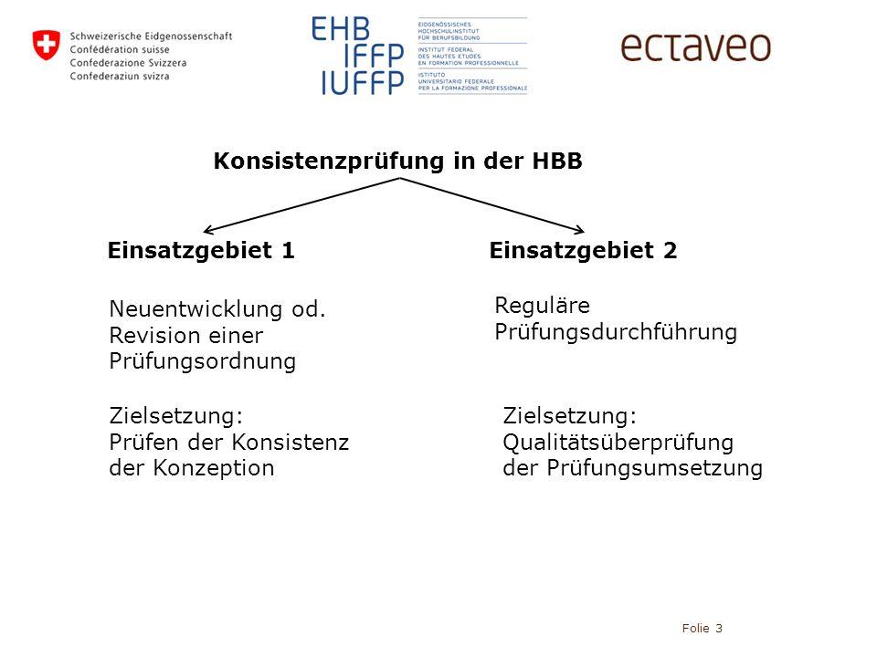 Folie 3 Konsistenzprüfung in der HBB Einsatzgebiet 1Einsatzgebiet 2 Neuentwicklung od.