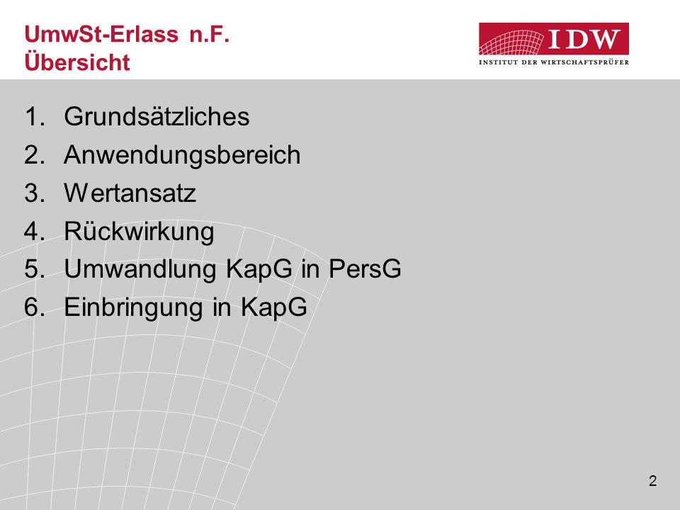 3 UmwSt-Erlass n.F.1.