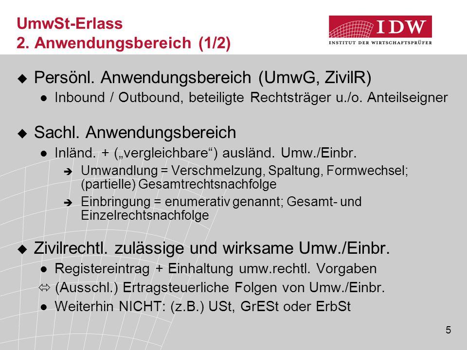 6 UmwSt-Erlass 2.