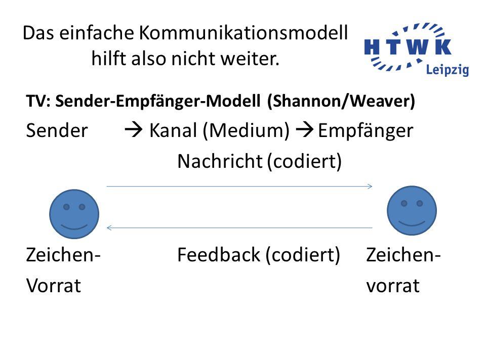 Das einfache Kommunikationsmodell hilft also nicht weiter.