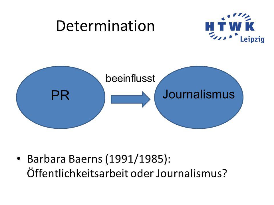 Intereffikation Günter Bentele (1997): Von der Determination zur Intereffikation PR Journalismus bedingt