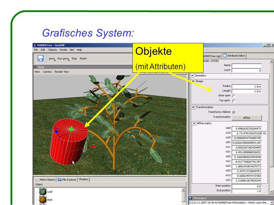 Grafisches System: Objekte (mit Attributen)