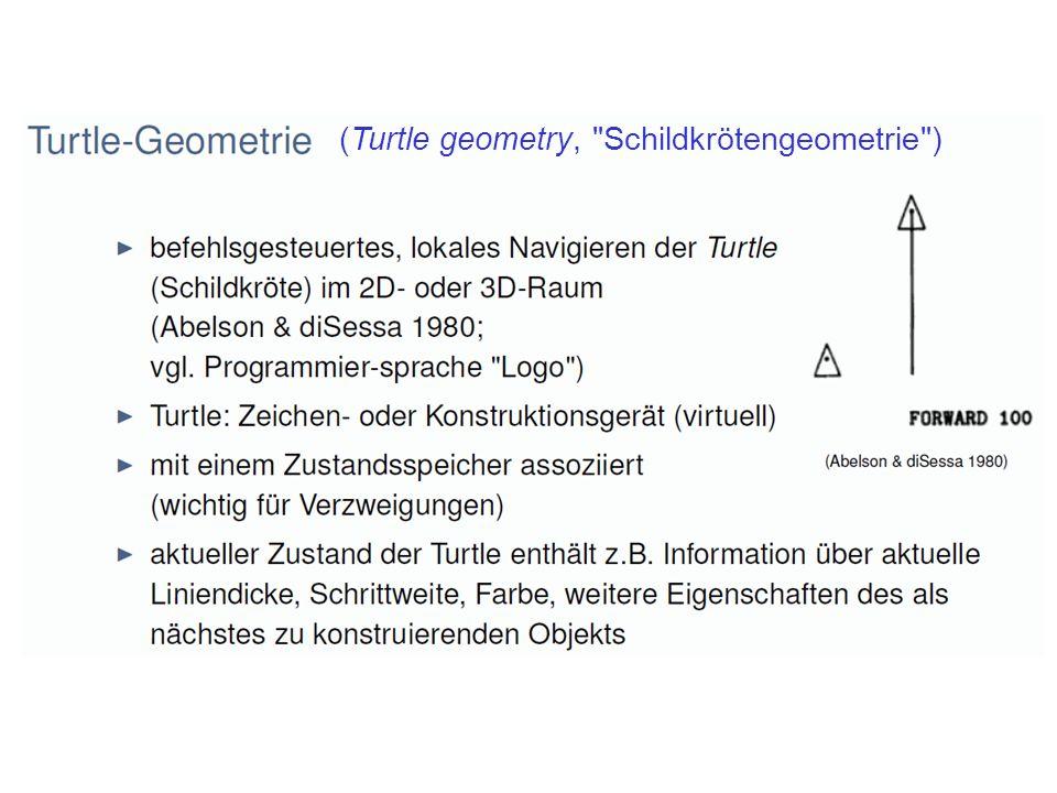 (Turtle geometry, Schildkrötengeometrie )