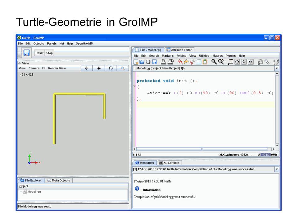 Turtle-Geometrie in GroIMP
