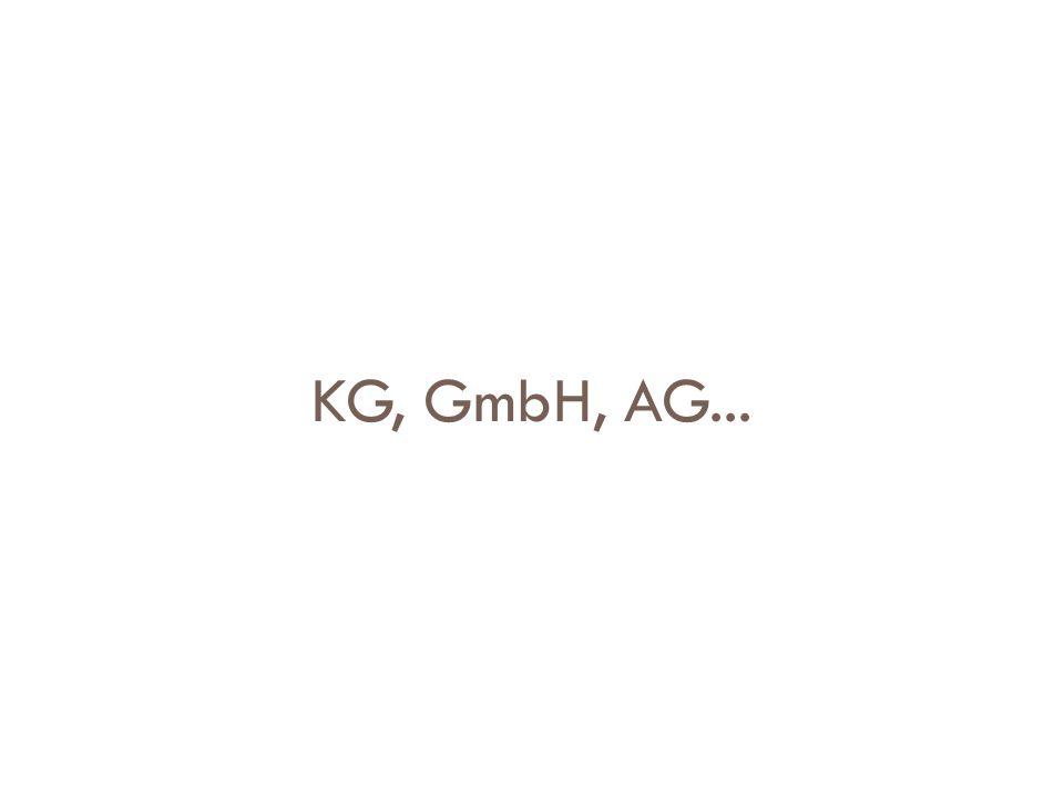 KG, GmbH, AG...