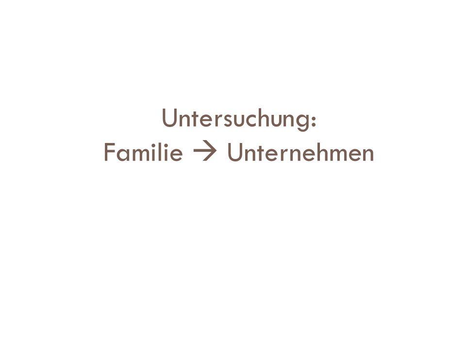 Untersuchung: Familie  Unternehmen