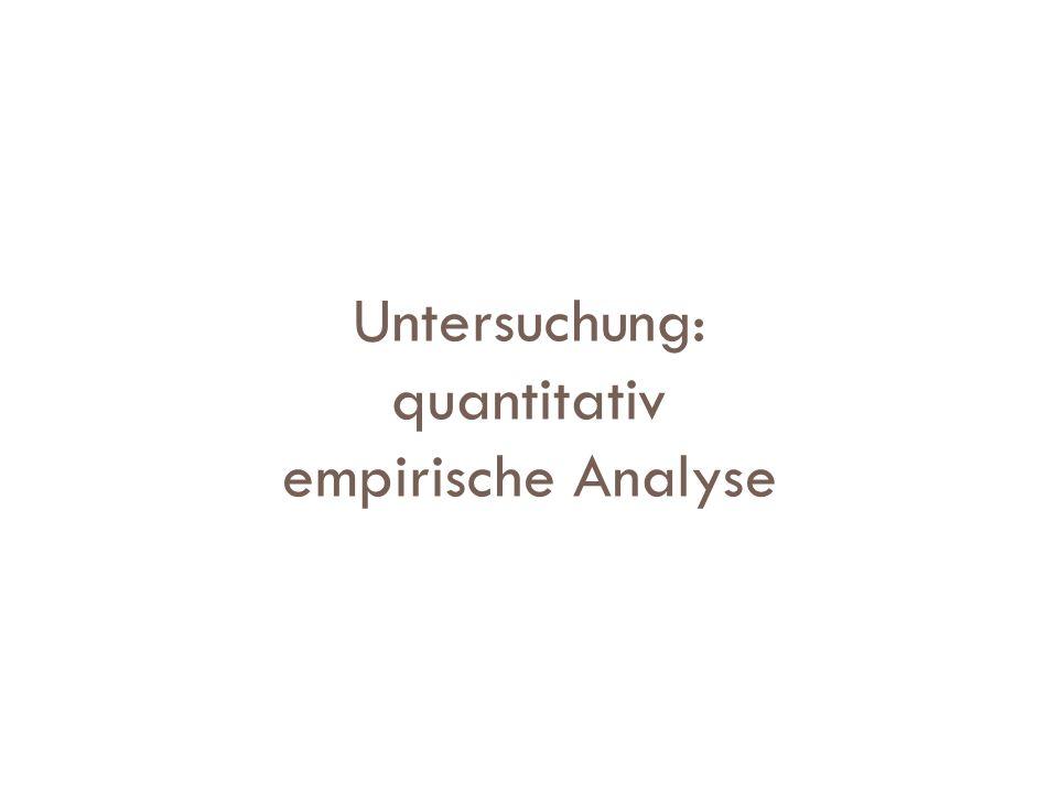 Untersuchung: quantitativ empirische Analyse