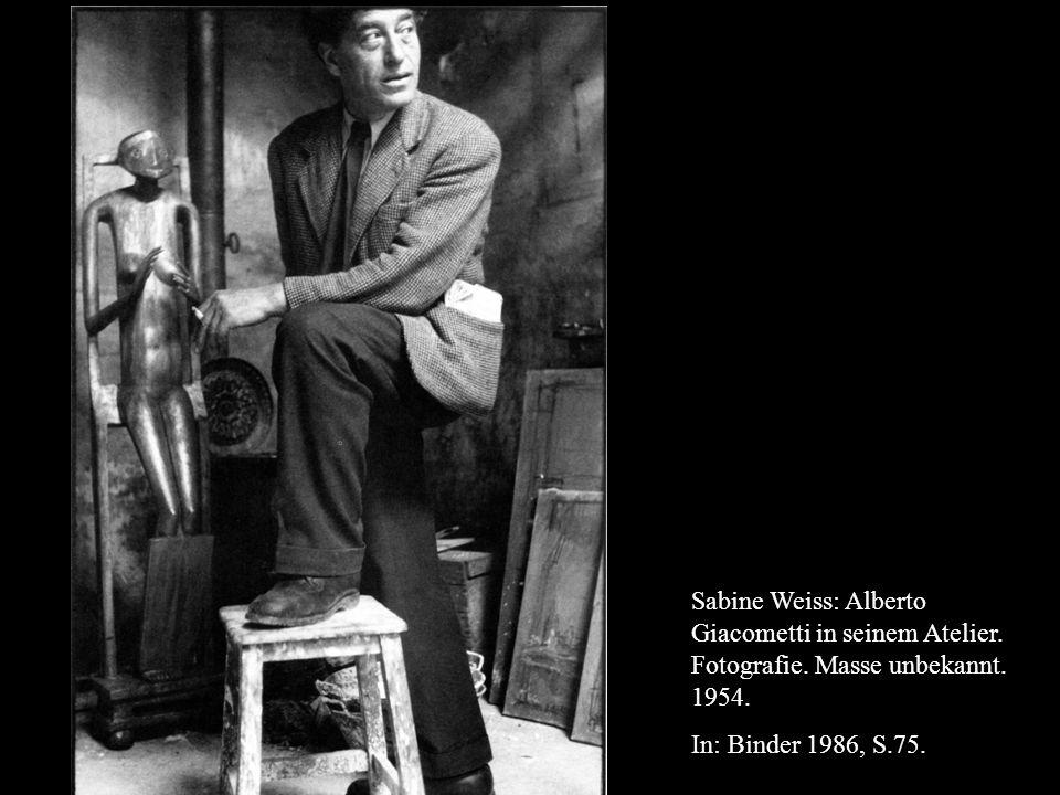Sabine Weiss: Alberto Giacometti in seinem Atelier.