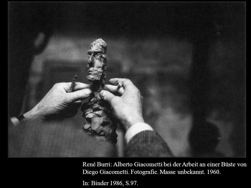 René Burri: Alberto Giacometti bei der Arbeit an einer Büste von Diego Giacometti.