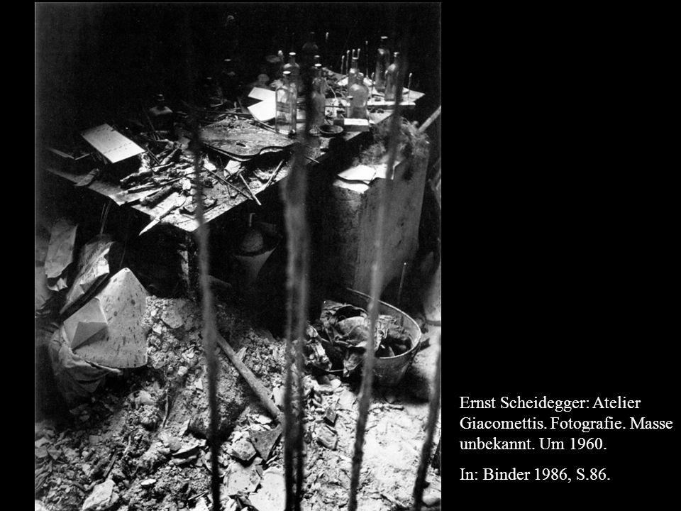 Ernst Scheidegger: Atelier Giacomettis. Fotografie.