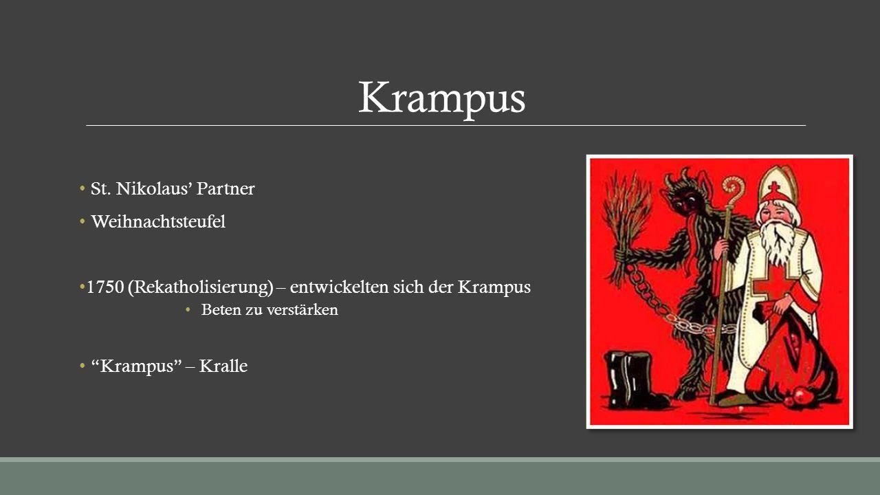 """Krampus St. Nikolaus' Partner Weihnachtsteufel 1750 (Rekatholisierung) – entwickelten sich der Krampus Beten zu verstärken """"Krampus"""" – Kralle"""