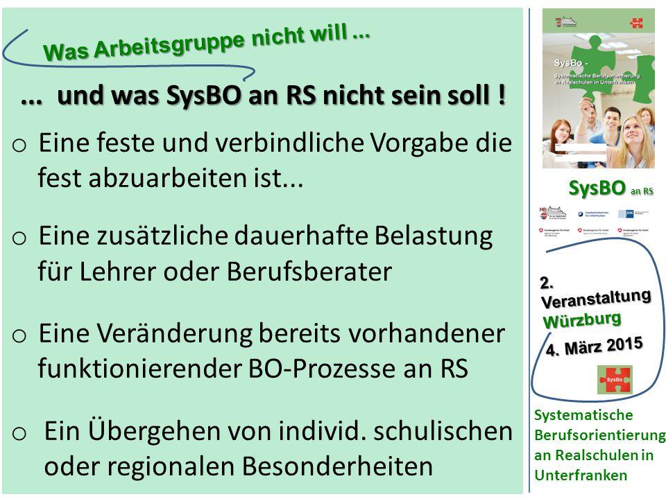 SysBO an RS 2.VeranstaltungWürzburg 4.