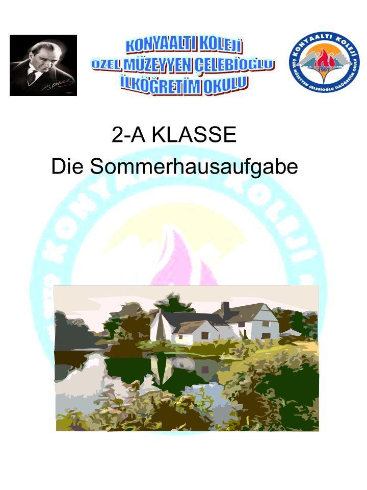 2-A KLASSE Die Sommerhausaufgabe