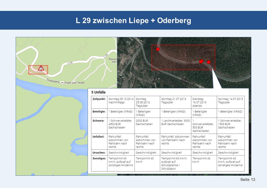 Seite 13 L 29 zwischen Liepe + Oderberg
