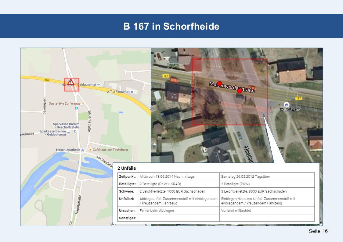Seite 16 B 167 in Schorfheide