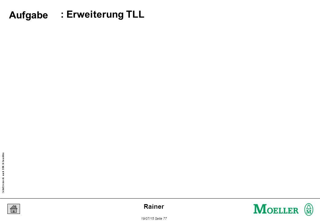 Schutzvermerk nach DIN 34 beachten 19/07/15 Seite 77 Rainer : Erweiterung TLL Aufgabe