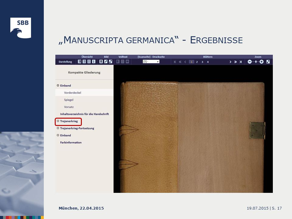 """M ANUSCRIPTA GERMANICA - E RGEBNISSE 19.07.2015 |München, 22.04.2015S. 17"