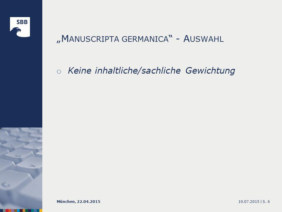 19.07.2015 |München, 22.04.2015S. 27