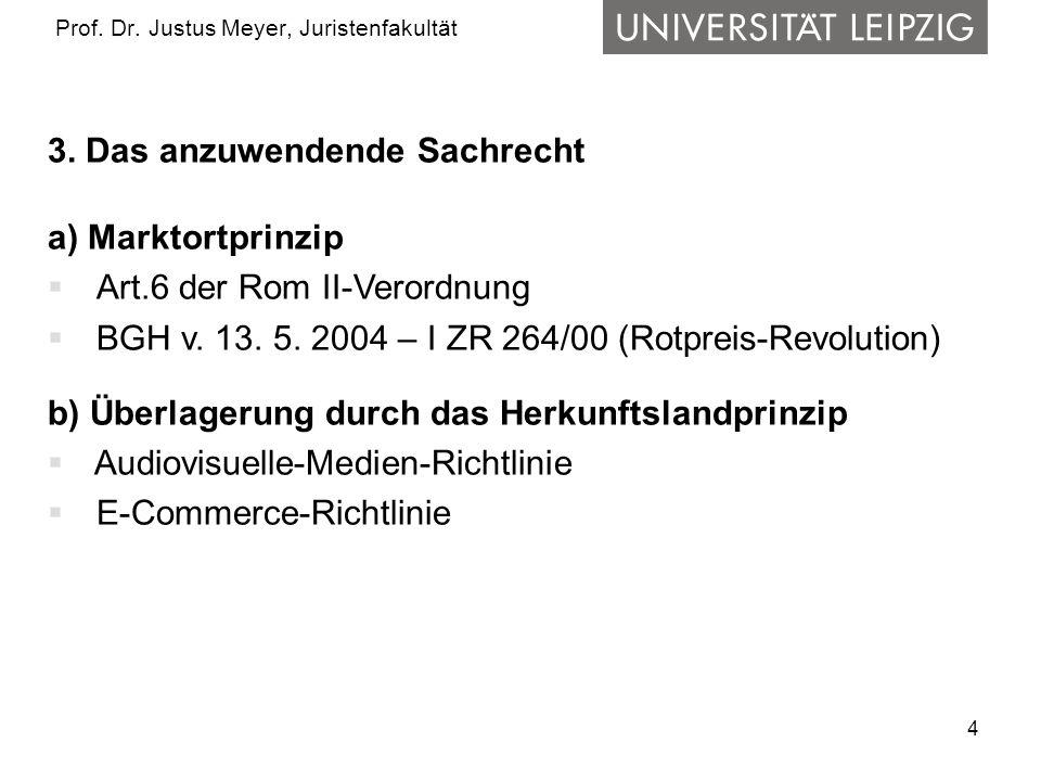 5 Prof.Dr. Justus Meyer, Juristenfakultät 4.