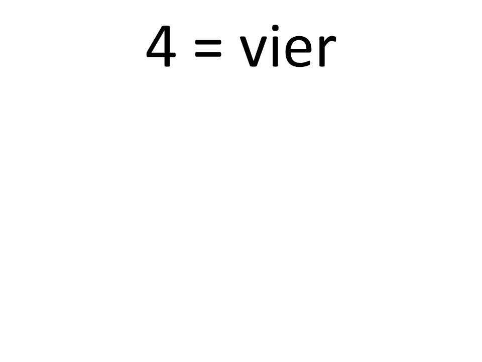 5 = fünf