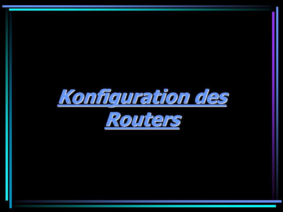 Konfiguration des Routers