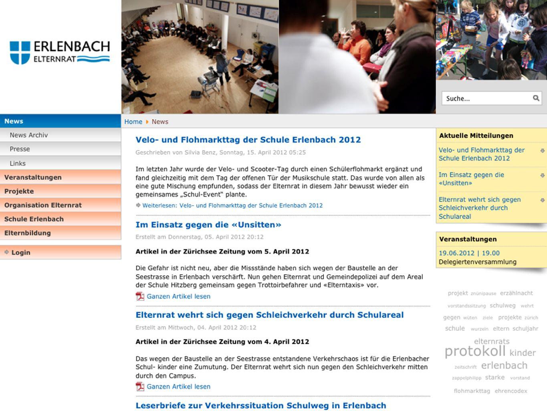 Aktivitäten 2010/2011 Neue Website