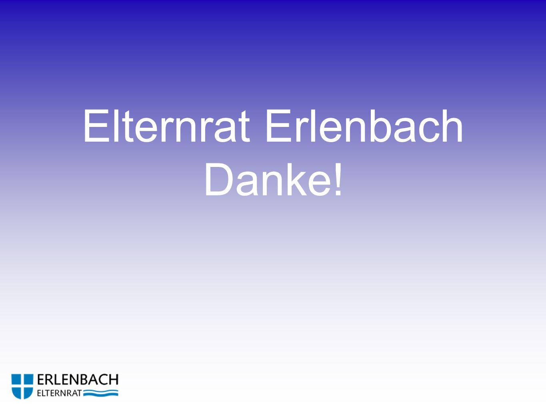 Elternrat Erlenbach Danke!