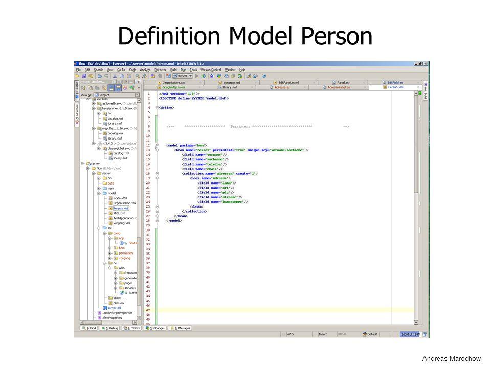 Definition Model Person Andreas Marochow