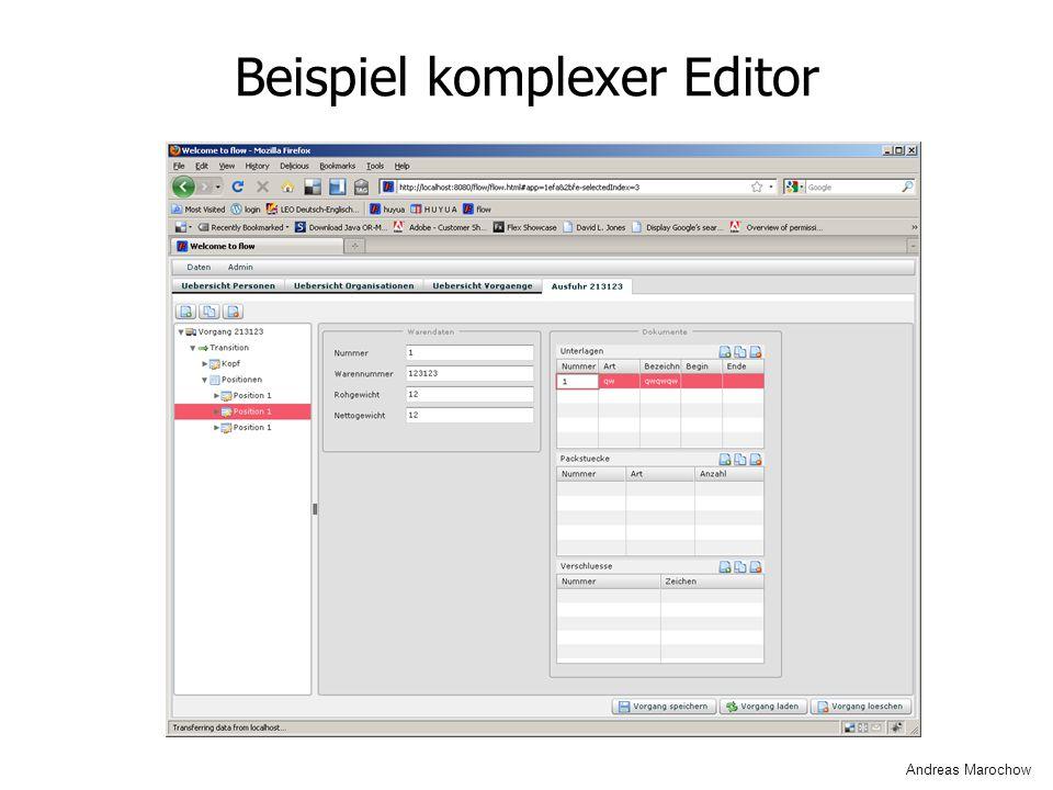 Beispiel komplexer Editor Andreas Marochow