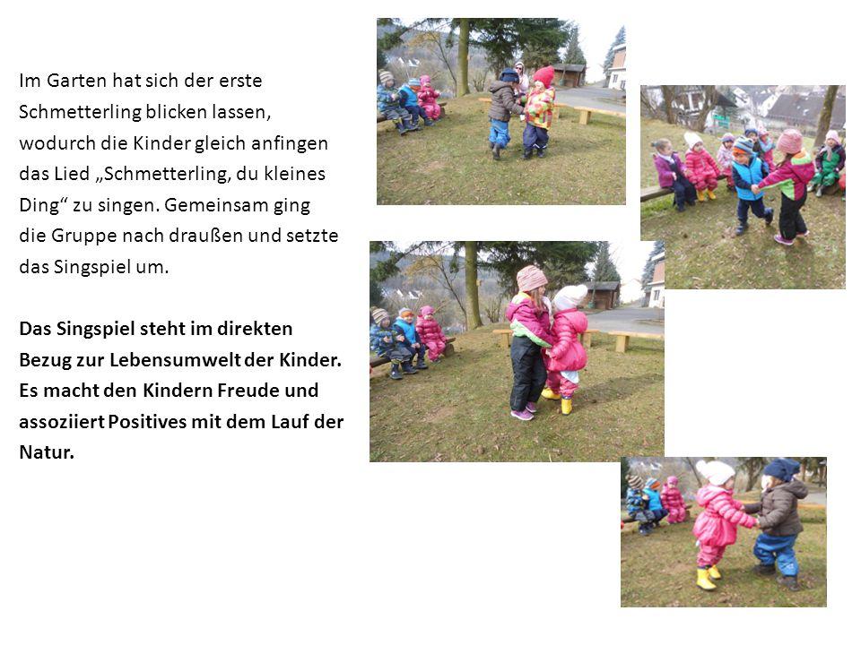Für das Singspiel wünschten sich die Kinder eine Verkleidung in Form von Fühlern.