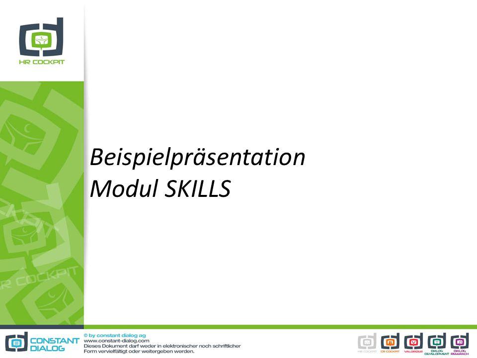 Beispielpräsentation Modul SKILLS