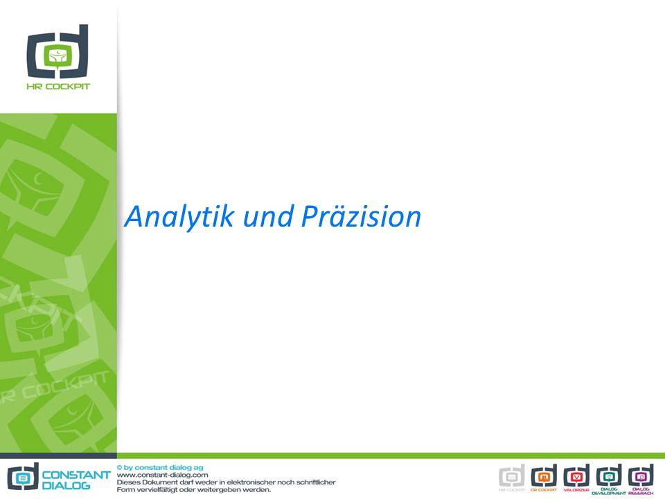 Analytik und Präzision