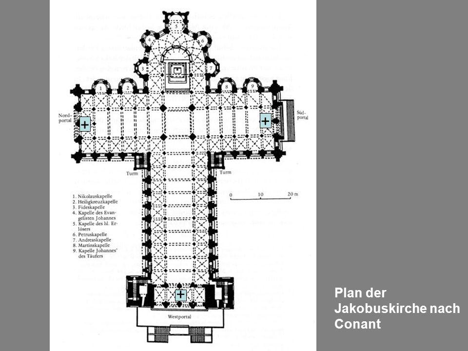 Plan der Jakobuskirche nach Conant + + +