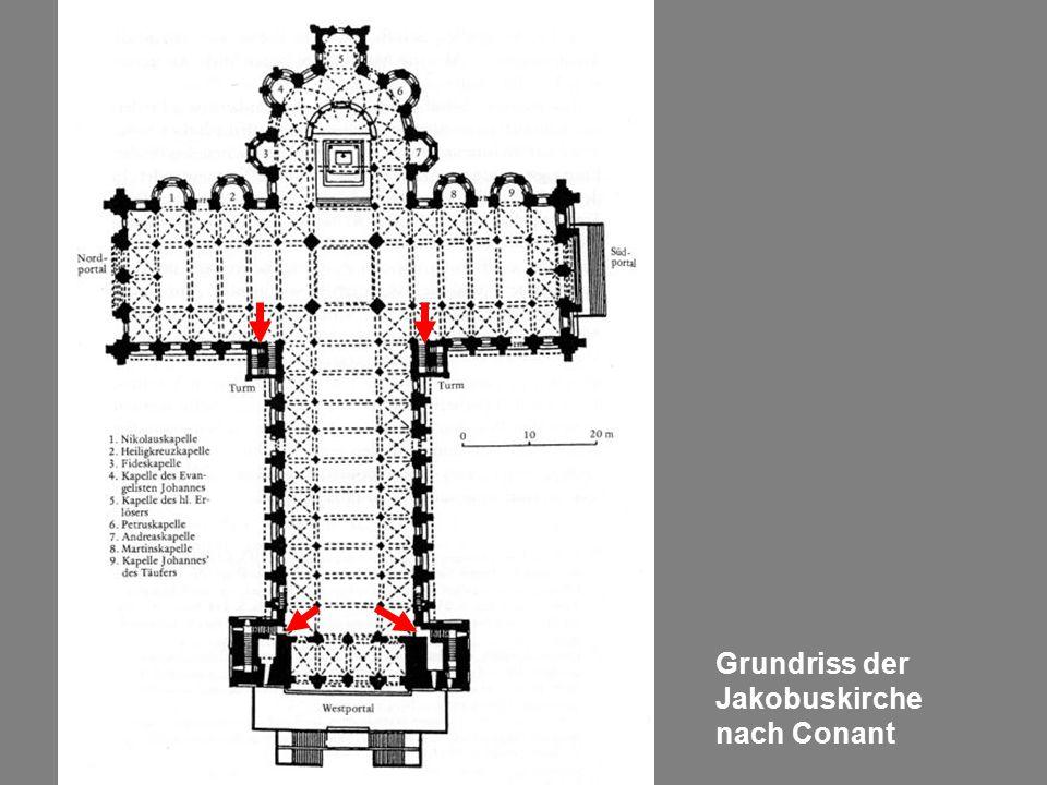 Grundriss der Jakobuskirche nach Conant