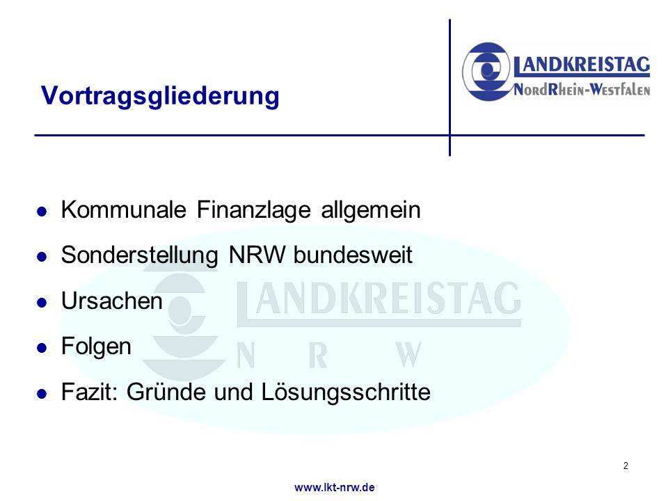 www.lkt-nrw.de Ursachen (7) Entwicklung des Verbundsatzes (NRW) 13