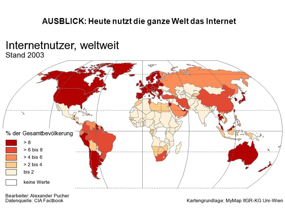 AUSBLICK: Heute nutzt die ganze Welt das Internet