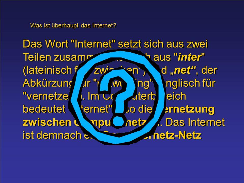 """Aufgabe: Schreibe mit Hilfe der Suchmaschine google im www deine eigene """"Geschichte des Internets ."""
