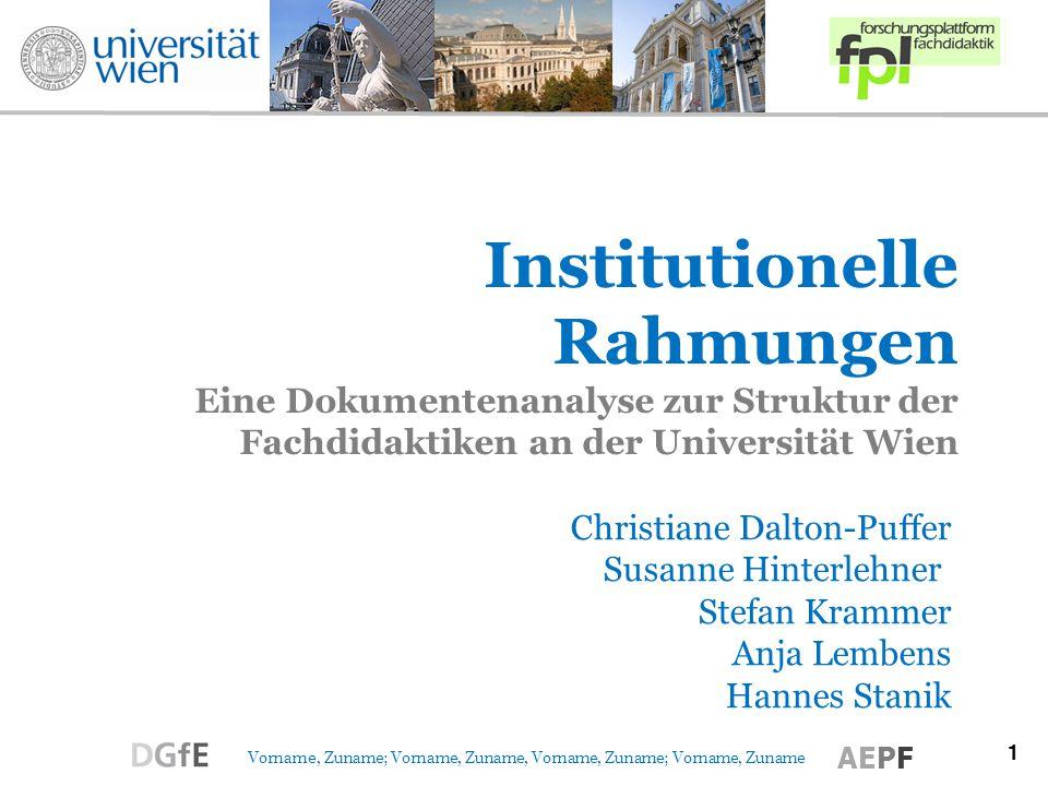 12 Vorname, Zuname; Vorname, Zuname, Vorname, Zuname; Vorname, Zuname AEPF Abschlussarbeiten & Forschungsprojekte (08-09) DiplomarbeitenDissertationen